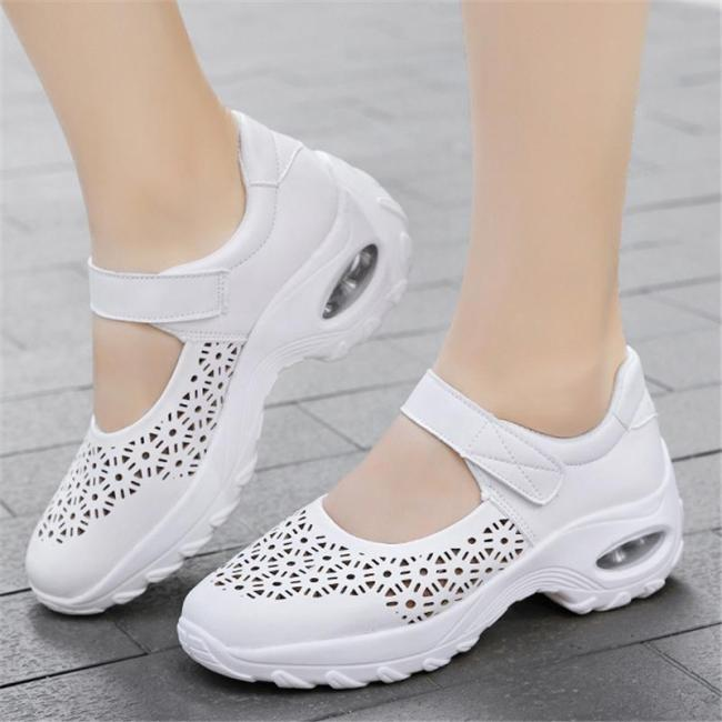 Supportive Fit Breathable Cutout Design Rocker Bottom Dancing Shoes