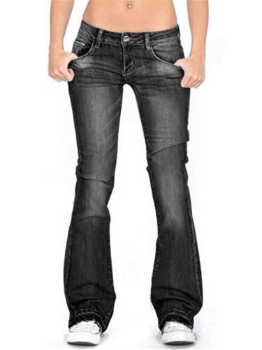 Easy Fit Washed Effect Frayed Hem Pocket Denim Pants