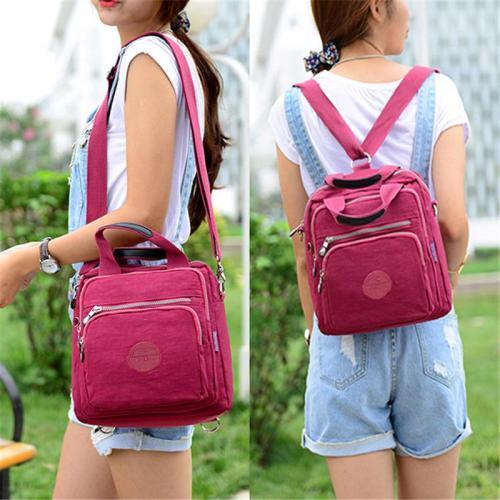 Casual Multi-Function Zipper Crossbody Bag Handbag Backpack