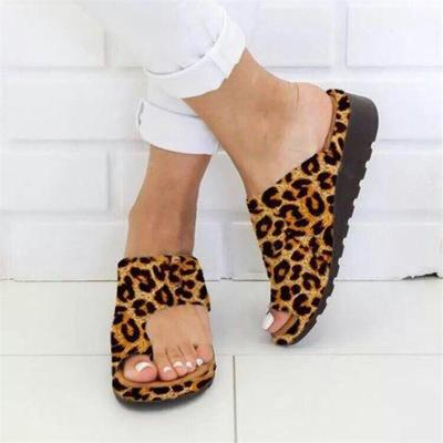 Casual Style Toe-Ring Thick-Sole Soft Footbed Non-Slip Slippers