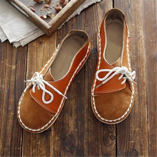 Women's Casual Suede Round Toe Shoes