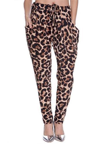 Women's Leopard Print Loose Casual Pants