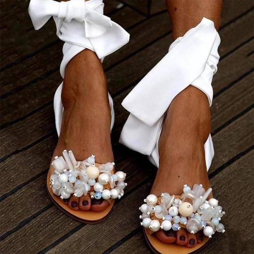 Fashion Lace Up Flat Sandals