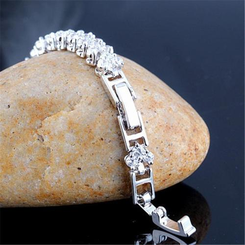 Shiny Zircon Buckle Adjustable Romanian Style Bracelet