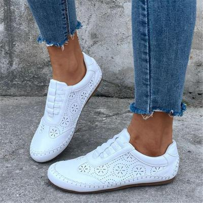 Comfortable Soft Footbed Low-Cut Cutout Elastic Band Flat Heel Loafers