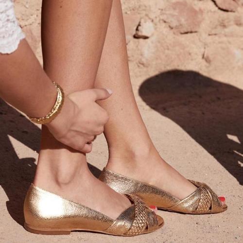 Women Comfy Peep Toe Slip-on Casual Sandal