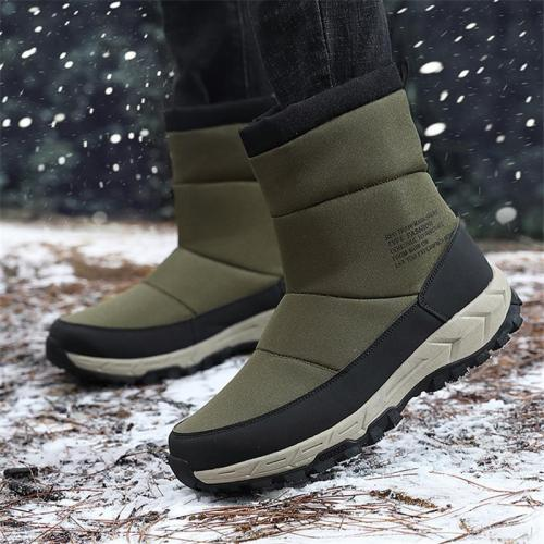 Winter Warm Antiskid Waterproof High Top Snow Boots For Men