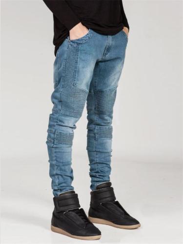 Men's Hip-Hop Ripped Denim Skinny Pants