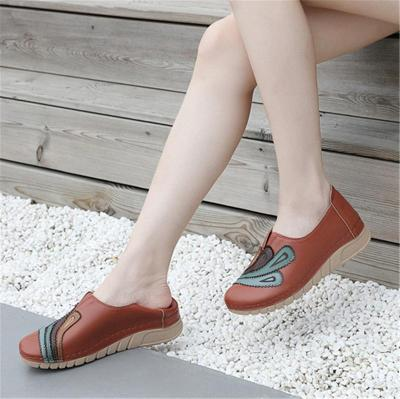 Retro Style Thick-Sole Wedge Heel Soft Footbed Loafers