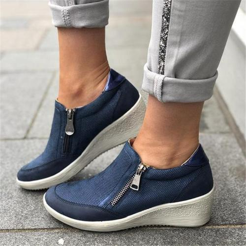 Casual Wedge Zipper Comfortable Shoes