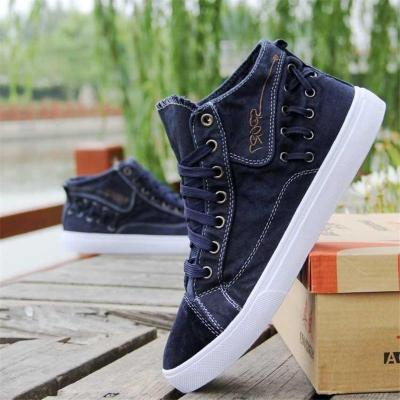 Trendy Canvas High-Top Skate Shoes