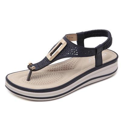 Comfortable Flip Flops Soft Footbed Wedge Heel Slip On Sandals