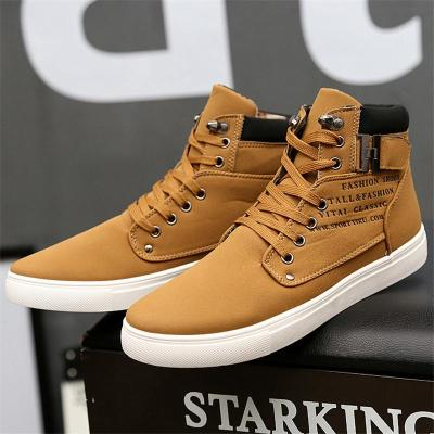 Retro Style High-Cut Lace-Up Waterproof Walking Shoes