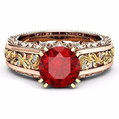 Beautiful 14K Rose Gold Topaz Stone Rings For Her