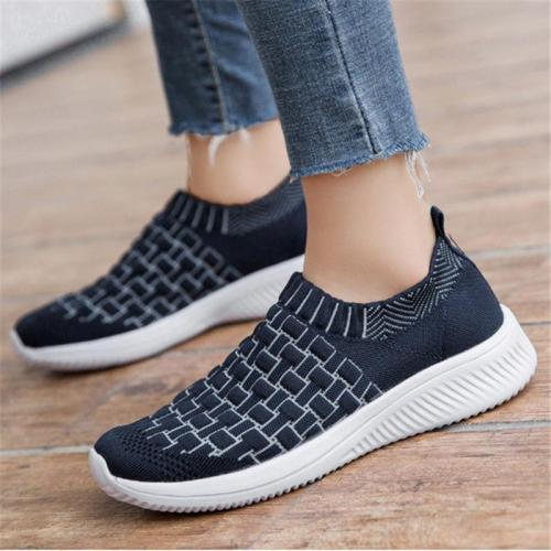 Casual Style Lightweight Breathable Low-Cut Knitted Loafers
