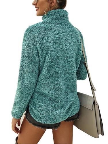 Autumn/Winter New In Fashion Turtleneck Outerwear For Women