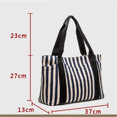 Women's Handbag Striped Canvas Bag