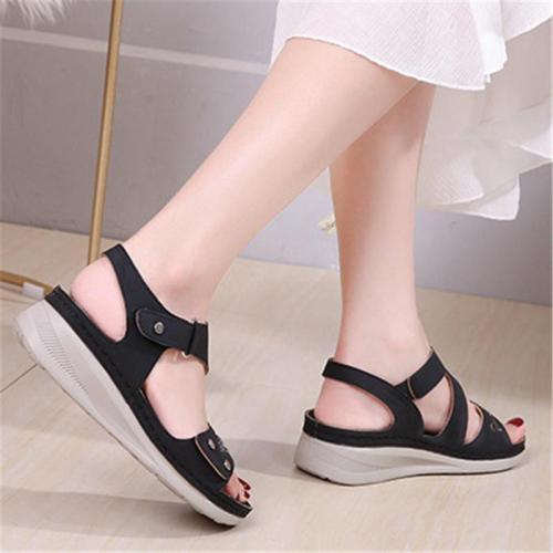 Perfect Fit Adjustable Strap Wedge Heel Platform Ultimate Summer Sandals