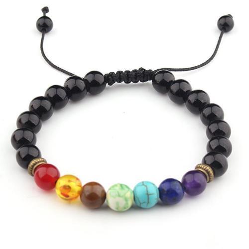 Volcanic Stone Energy Braided Bracelet