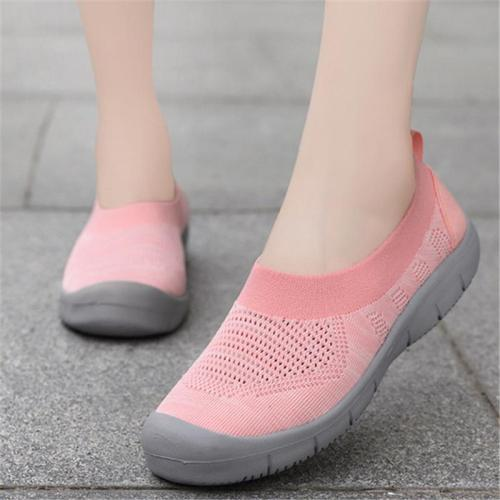 Comfy Mesh Breathable Slip-on Soft Sole Casual Shoes