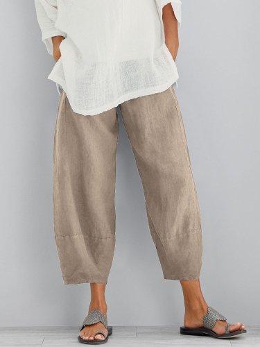 Women's Casual Loose Cotton Pants