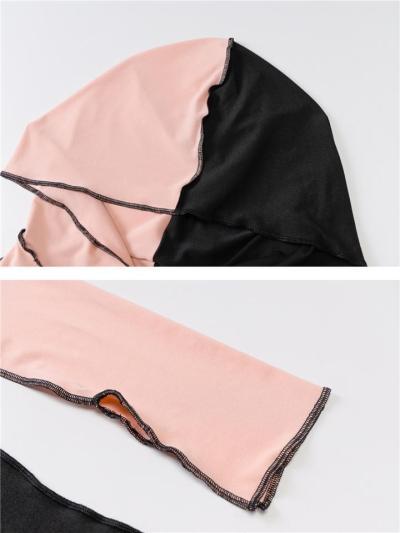 Slim Fit Long Sleeve Seam Hooded Basic Maxi Sheath Dress
