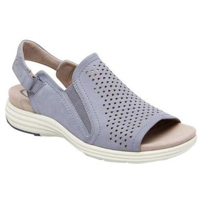 Comfortable Wedge Heel Peep Toe Cutout Design Back Strap Sandals