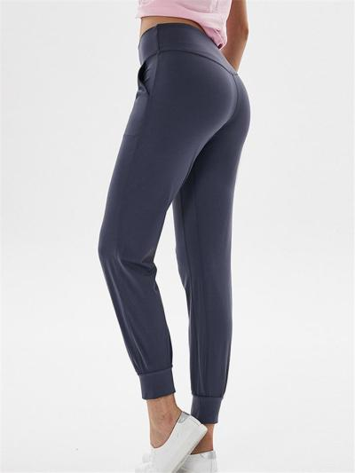 Casual Style High-Rise Pocket Jogging Yoga Ankle Pants