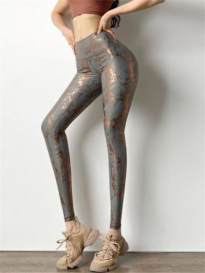 Super Stretchy Snake Pattern High-Rise Quick Dry Yoga Leggings