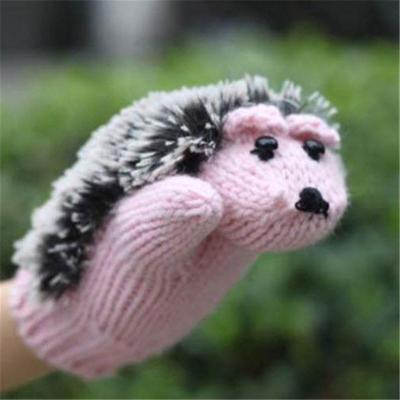Creative Cute Hedgehog Knitted Warm Mittens
