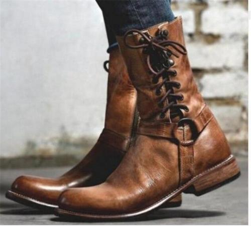 Vintage Side Tie Comfort Plus Size Boots