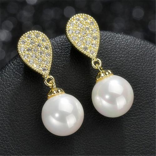 Cute Teardrop Beaded Dangled Earrings