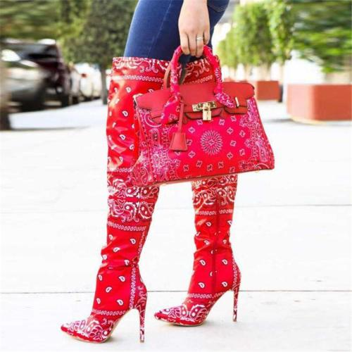 Stylish Chic Bandanna Printing Leather Tote Bags