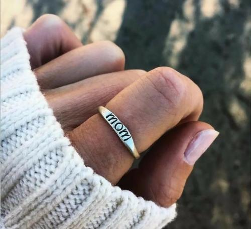 Hot Selling Fashion Jewelry Gift MoM Ring For Mother