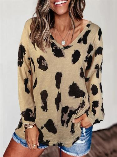 Stylish Leopard Print Long Sleeve Shirt