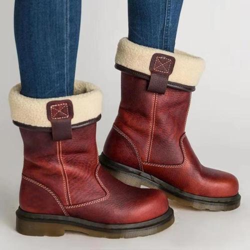 Breathable Non-Slip Waterproof Faux Fur Interior Mid-Calf Boots