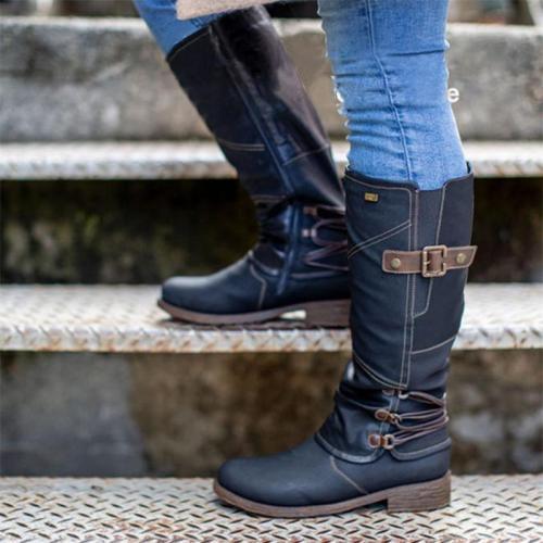 Fashion Side Zipper Low Heel Waterproof Non-Slip Wear-Resistant Boots