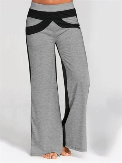 Casual Fit Contrasting Mid-Rise Bootcut Pocket Pants