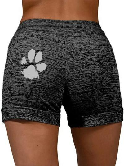 Leisure Elastic Waistband Drawstring Quick Dry Yoga Sports Shorts