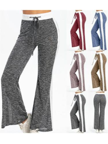 Comfy Casual Lace-up Straight-leg Pants For Women