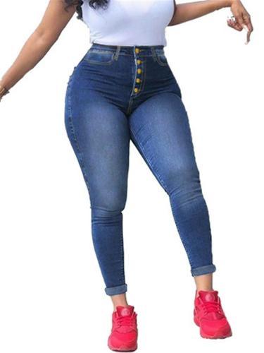 Stylish High-Rise Pocket Washed Effect Stretchy Skinny Jeans