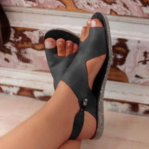Casual Style Lightweight Toe-Ring Flat Heel Soft Footbed Sandals