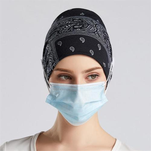 Comfortable Fit Breathable Soft Headband with Face Mask Buttons