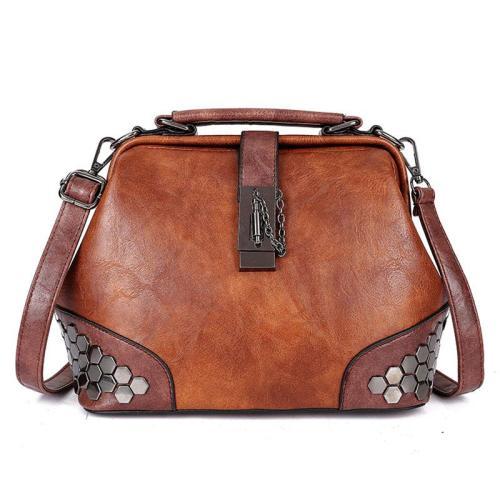 Women's Retro Vintage Buckle Lock Shoulder Bags