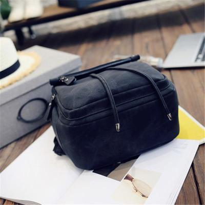 Minimalist Style Solid Color Buckle Up Adjustable Strap Backpack