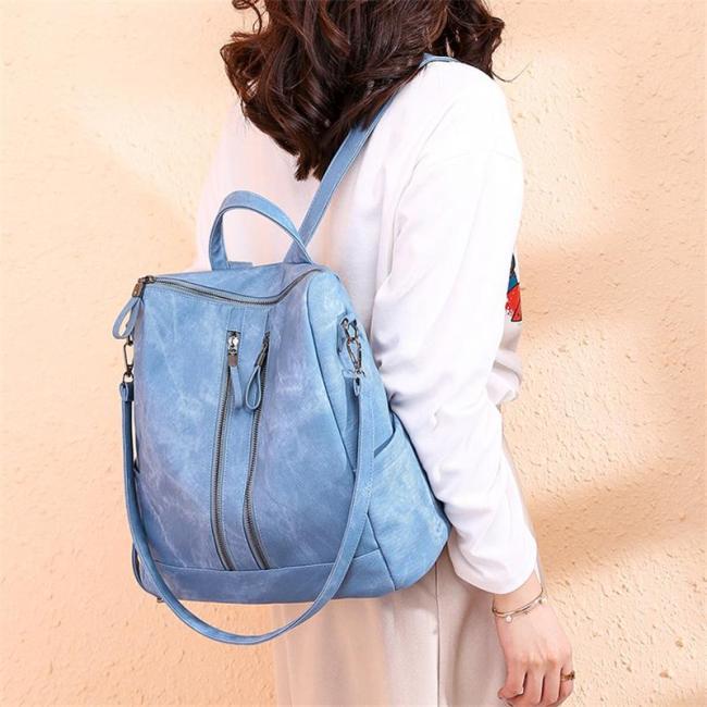 Versatile Multi Pocket Backpack with Detachable Crossbody Strap