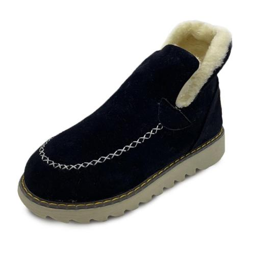Comfortable Slip-On Fur Lining Wedge Heel Short Snow Boots