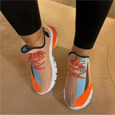 Trendy Breathable Low-Cut Multicolor Lace Up Mesh Sneakers