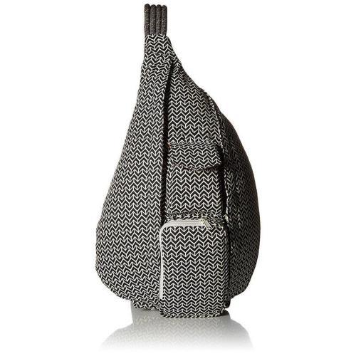 Casual Geometric Pattern Canvas Rope Crossbody Bag