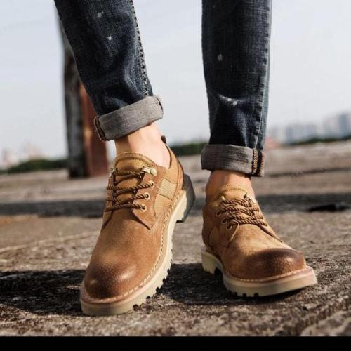 Men's Vintage Artificial Leather Lace Up Ankle Boots
